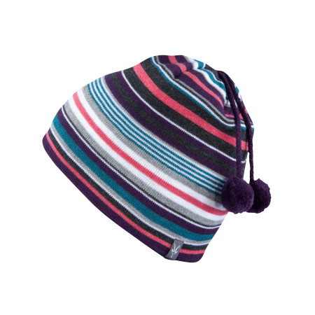 Women's - Stripe Double Pom Beanie