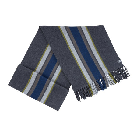 Men's - Stripe Scarf w/ Fringe