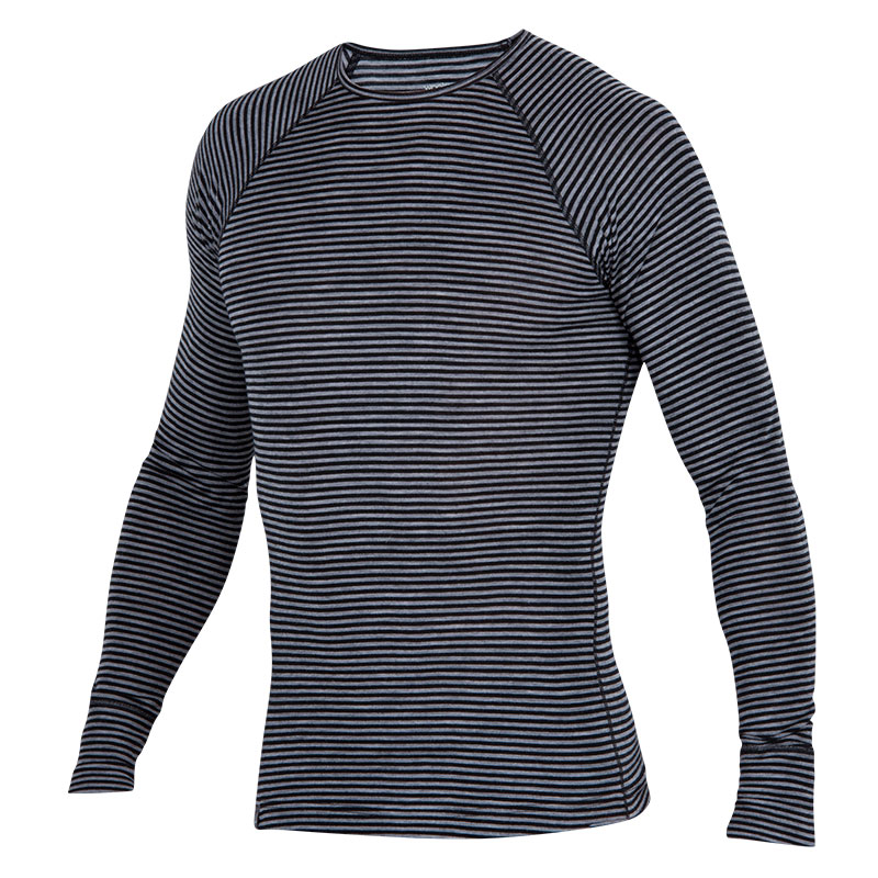 Lightweight Merino rib-knit baselayer top