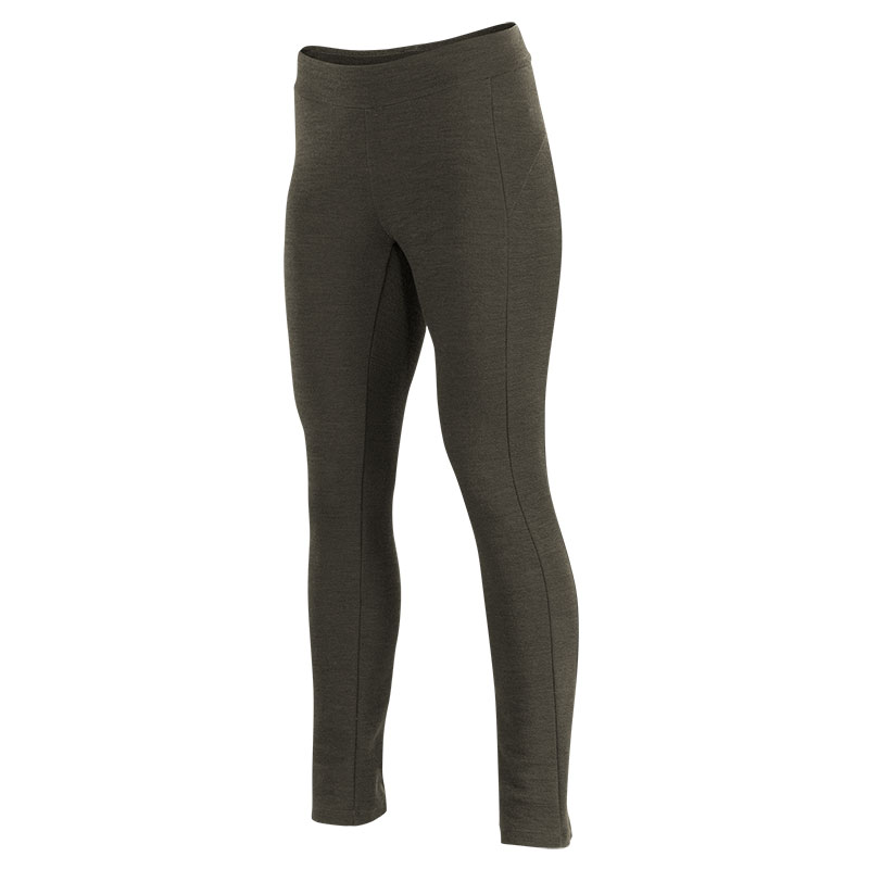 Winter-weight wool fitted lifestyle pant