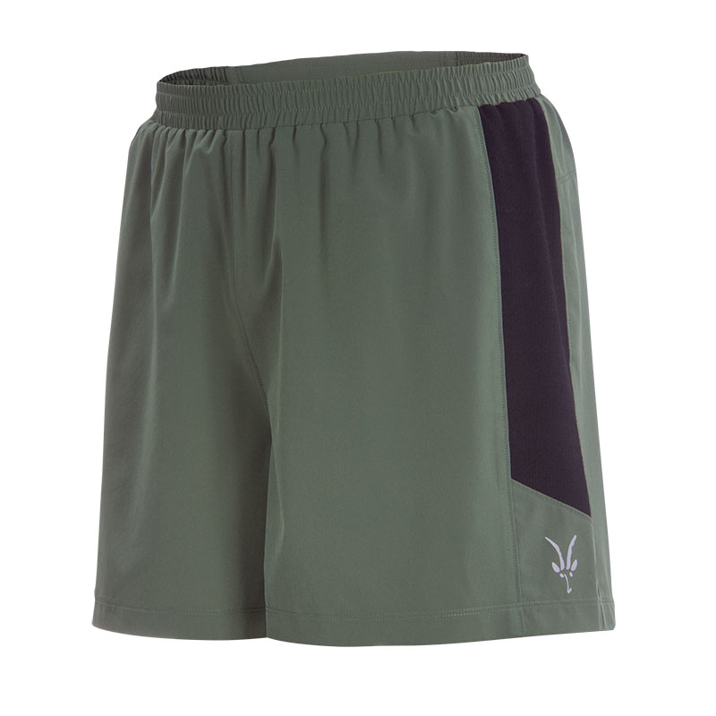 Lightweight performance running short with internal Merino/spandex knit  brief