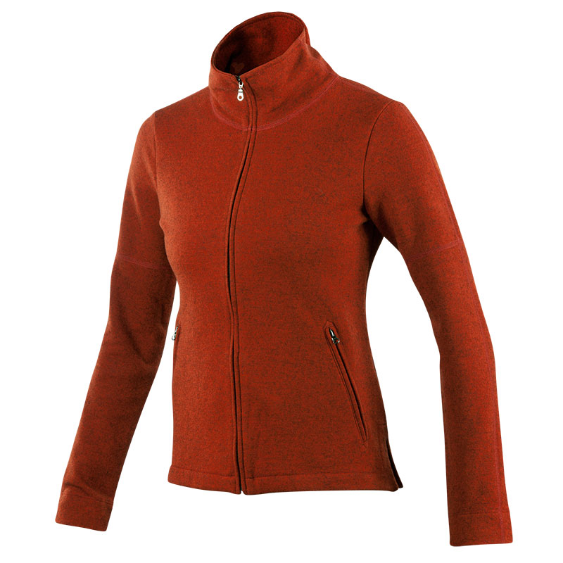 Milled double-faced Merino full zip