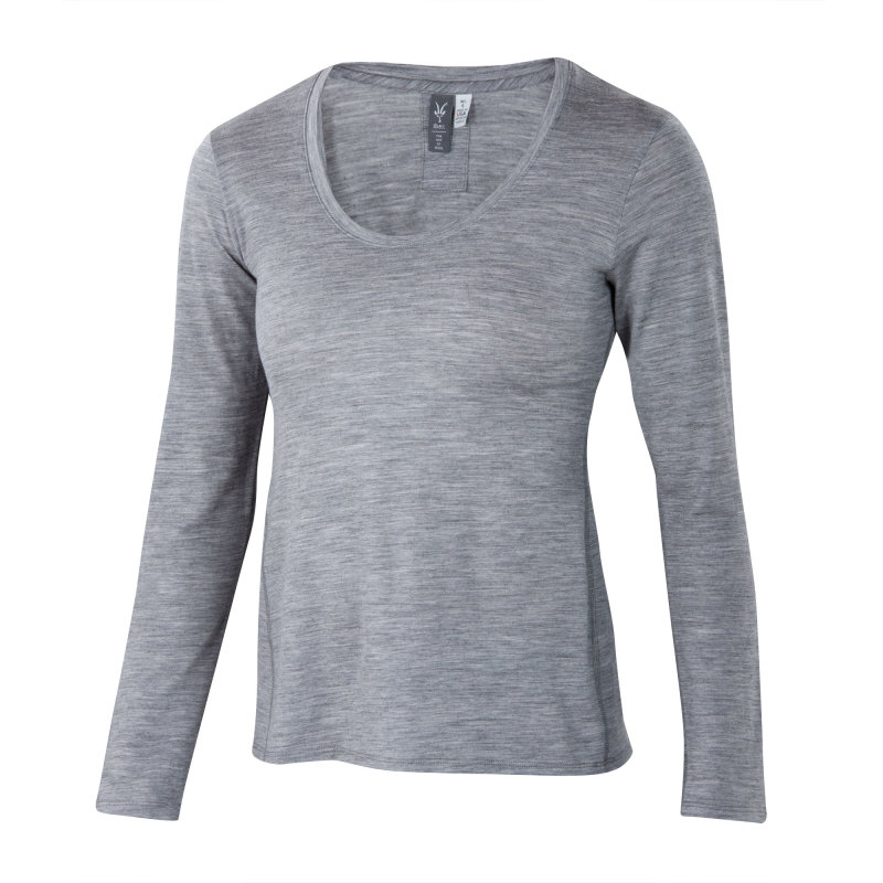 Lightweight overdyed heather Merino long sleeve tee