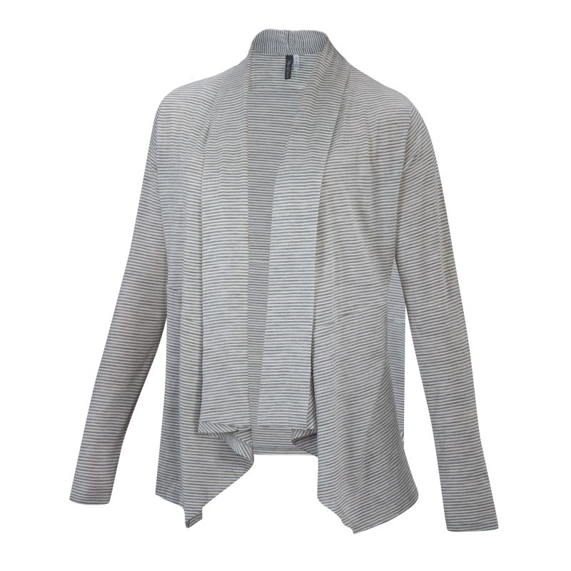 Lightweight overdyed heather Merino open front cardigan