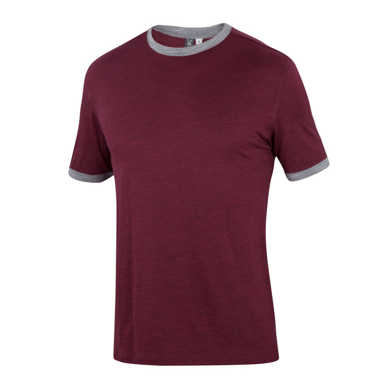 Lightweight overdyed heather Merino tee