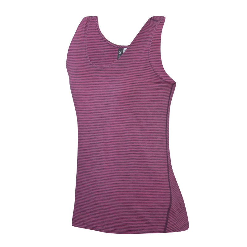 Lightweight overdyed heather Merino tank