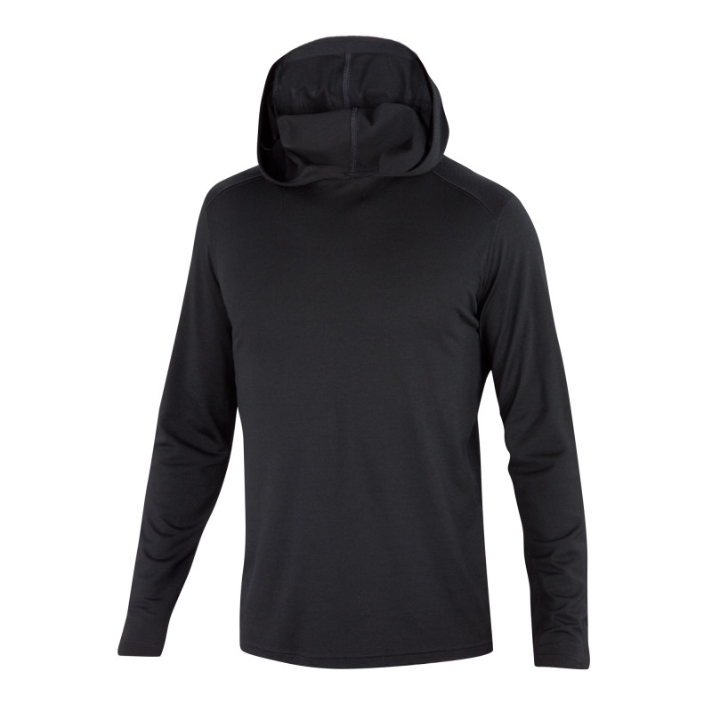 All-season Merino jersey knit pullover hoody