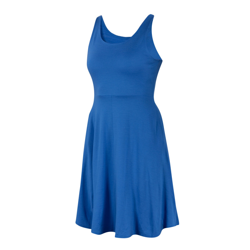 All-season Merino jersey knit fit and flare tank dress