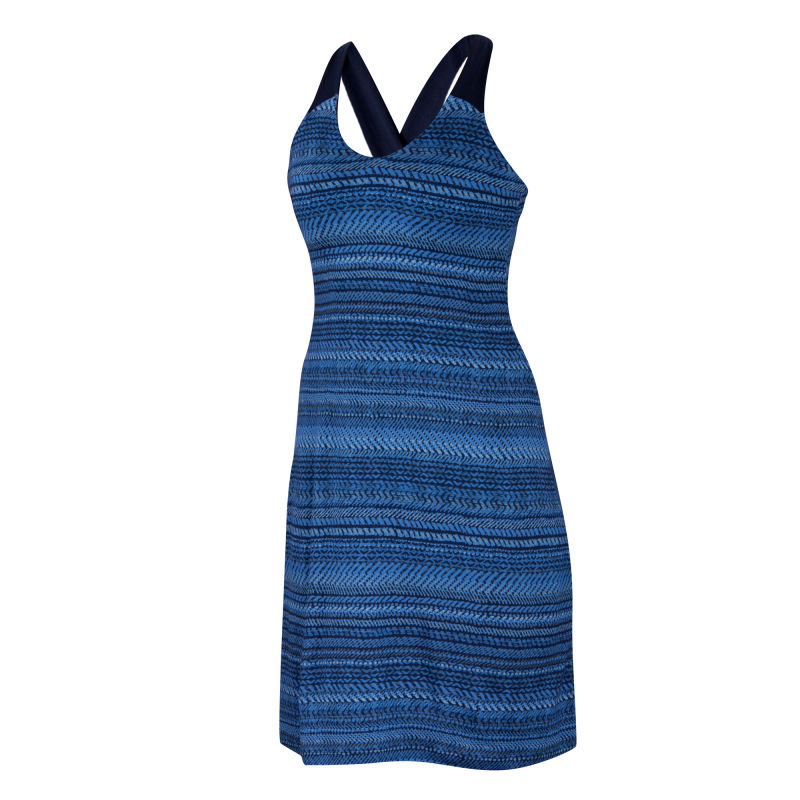 All-season Merino jersey knit A-line dress