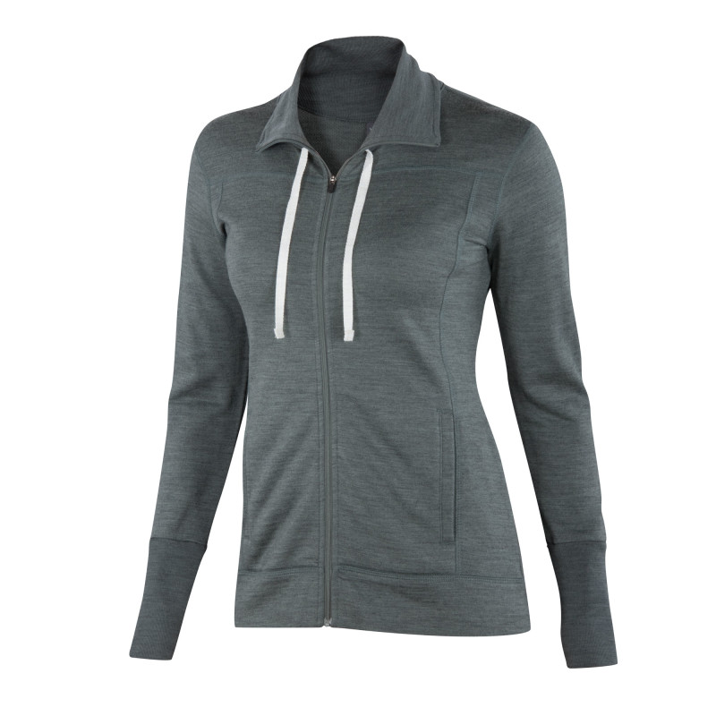 Mid-weight Merino French terry full zip