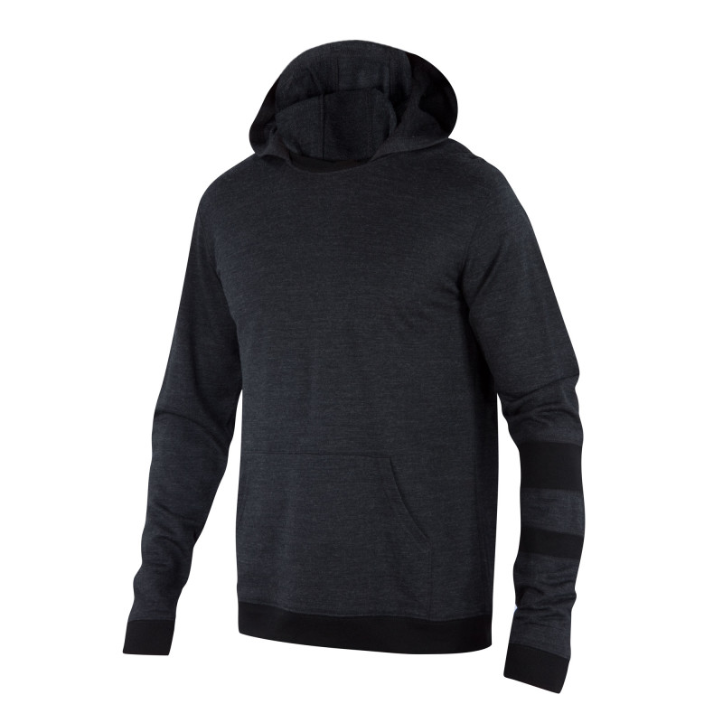 Mid-weight Merino French terry knit pullover hoody