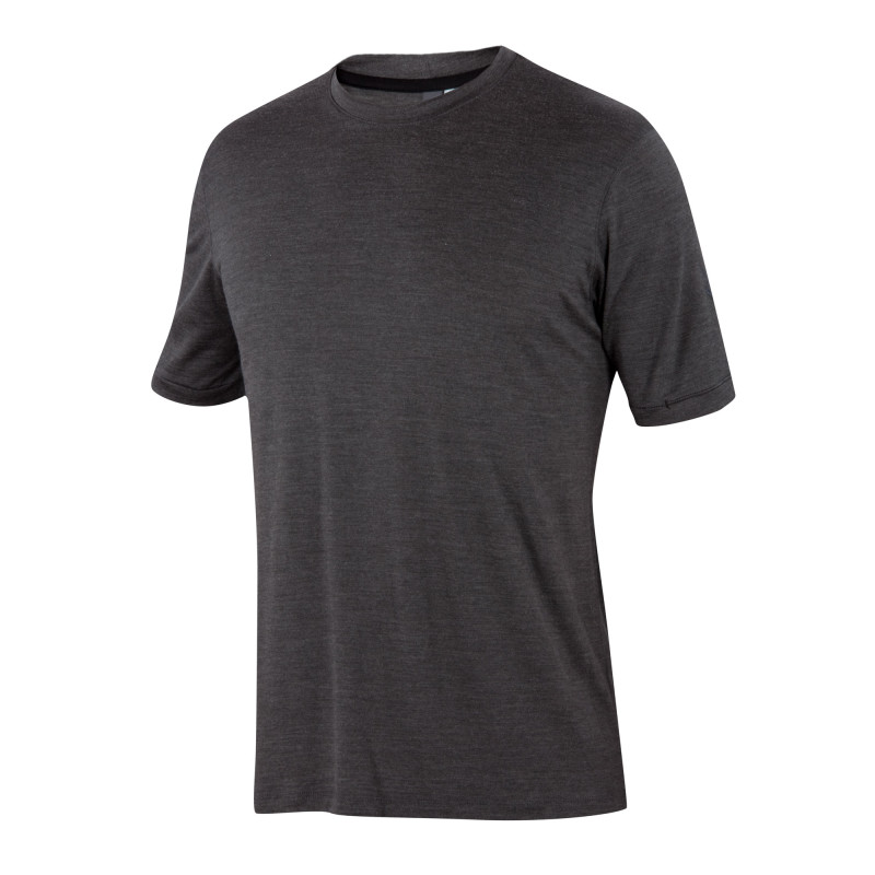 Ultra-fine Merino and silk blend crew neck tee