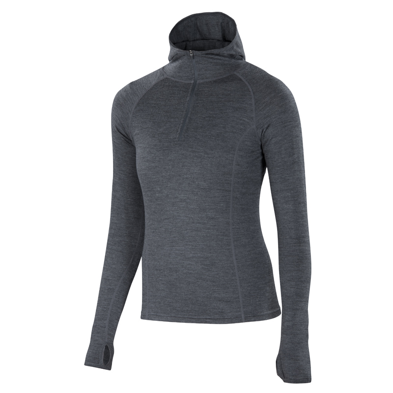 All-season Merino jersey half-zip hoody