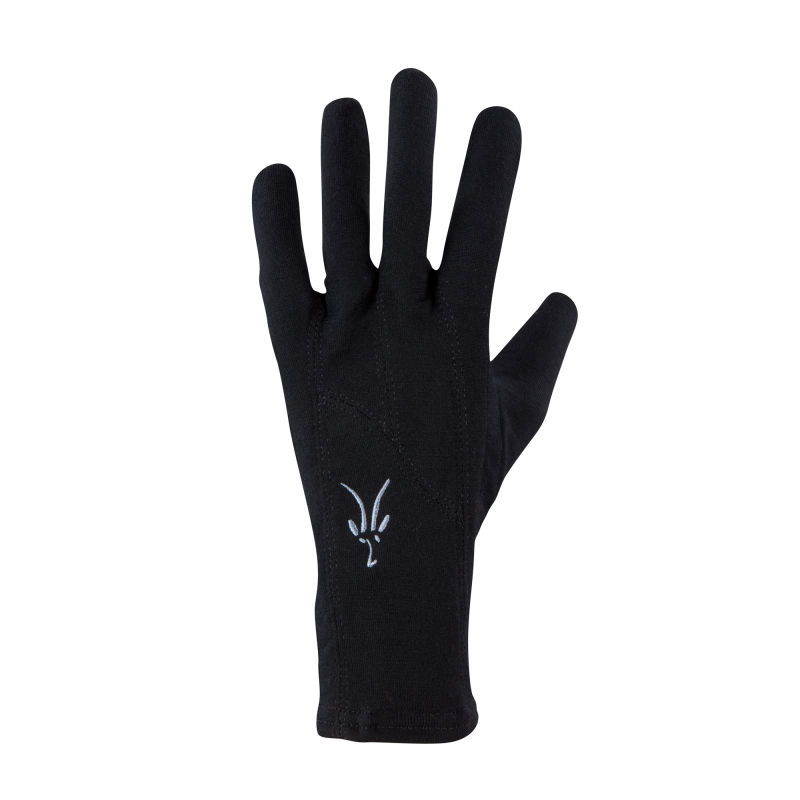 Lightweight insulating stretch merino conductive glove liner