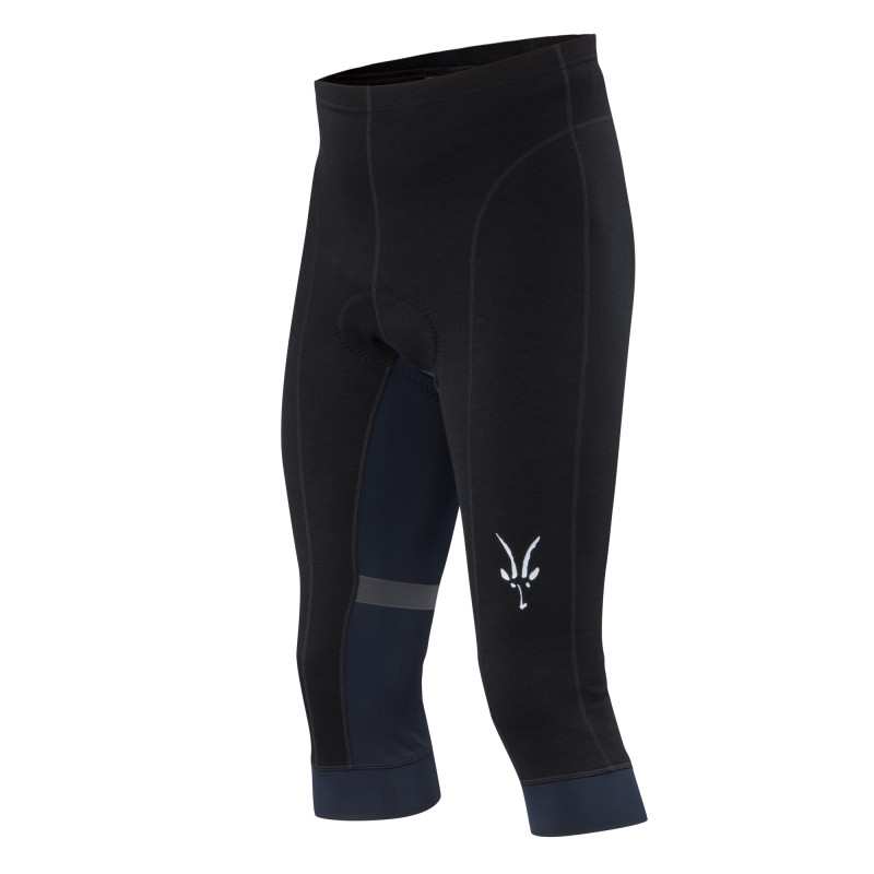 Merino/Spandex ponte mid-weight cycling short with Cytech mid-range chamois pad