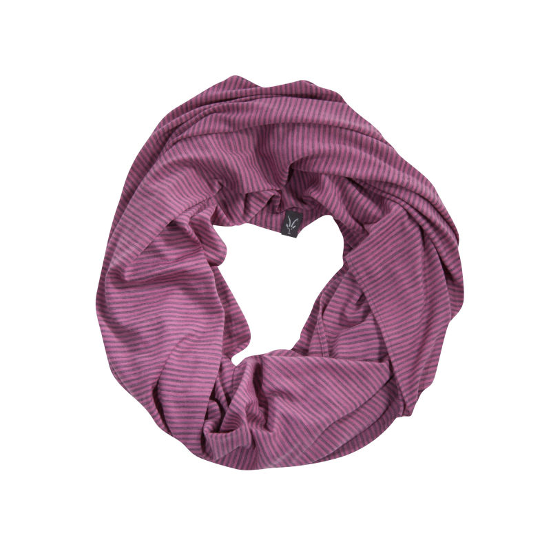 Lightweight overdyed heather Merino infinity scarf
