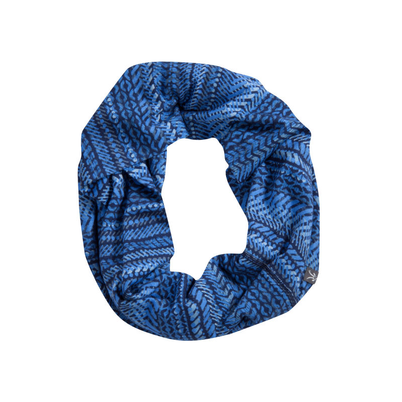 Jersey knit Merino infinity scarf with original all over digital print