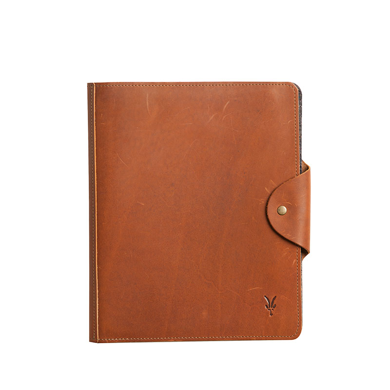 Vermont-crafted leather iPad folio