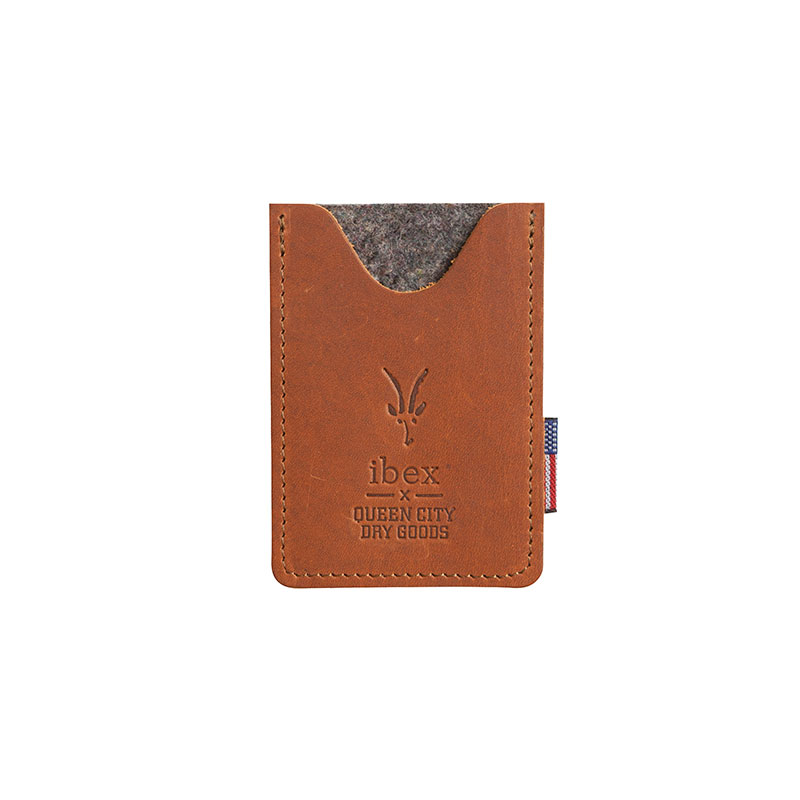Vermont-crafted leather business card holder