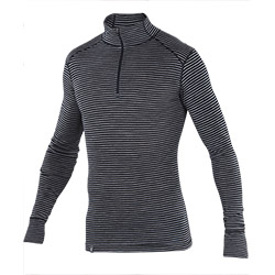 Woolies Zip T-Neck Stripe