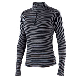 Woolies 150 Zip T-Neck Stripe